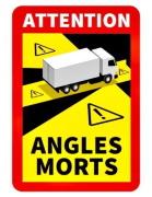 AUTOCOLANT Angles Morts unghi mort truck