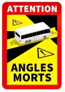 AUTOCOLANT Angles Morts, unghi mort BUS